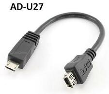 6 inch USB Micro-B Male to USB Mini-B 5-Pin Female Adapter Cable, AD-U27