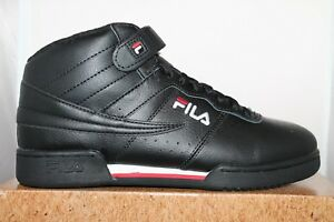 Mens Fila F13 F-13 Classic Mid High Top Basketball Shoes Sneakers White Black