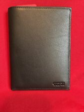 NEW WITHOUT TAGS TUMI ALPHA SLG ID LOCK PASSPORT CASE WALLET BLACK LEATHER $165