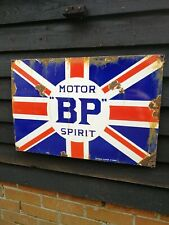 BP enamel sign BP Motor Spirit sign porcelain sign British Petroleum Union Jack
