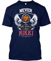 Never Underestimate Nikki - The Power Of Hanes Tagless Tee T-Shirt