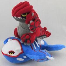 "HOT 2pcs/Lot Legendary Pokemon 8"" Groudon & 9"" Kyogre Stuffed Animal Plush Toy"