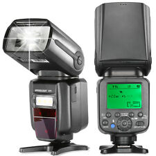 Li-ion Battery TTL Flash HSS Master Slave Flash Speedlite for Canon Nikon DSLR