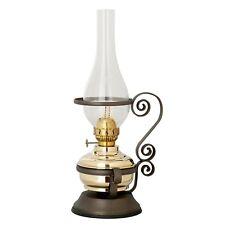 New Brass Table Kerosene oil lamp Lighting & Metal stand  - Italian Made