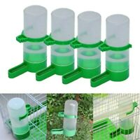 USA 4PCS  Plastic Pet Bird Drinker Feeder Water Bottle Cup For Cage Budgie Birds