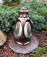 Grablaterne + Kerze + Sockel Grablampe Lampe Grableuchte Grablicht Bronze Lampe