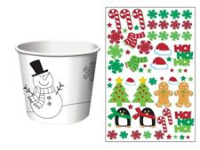 Christmas Holiday Activity Stickers 6 Paper Treat Cups