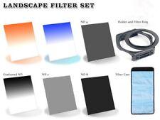 72mm Adapter Ring ND 2+4+8 Orange,Sky Blue Grad ND Filters+Holder & Case