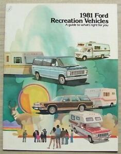 FORD RECREATION VEHICLES USA Sales Brochure 1981 #1PT010 PICK UP Escort FAIRMONT