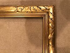 Antique 36x30 Genuine Newcomb Macklin - Rare Arts Crafts Gold Leaf Picture Frame