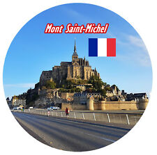 MONT SAINT - MICHEL, NORMANDY - SIGHTS / FLAG - NOVELTY SOUVENIR FRIDGE MAGNET