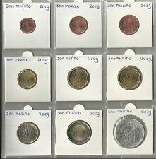 SAN MARINO 2009 - COMPLETE SERIE - 1 cent tot en met 2 euromunt + de € 5,=.
