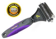 Dematting Comb For Pet By Hertzko, Gently Removes Loose Undercoat, Mats.