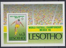 XG-AD410 LESOTHO - Football, 1986 Mexico World Cup MNH Sheet