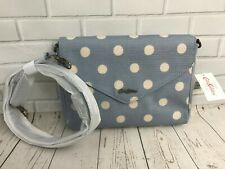 Cath Kidston Envelope clutch bag Embossed - Seafoam Blue - Button Spot - RRP £45