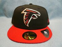 New Era 59fifty Atlanta Falcons 2-Tone BRAND NEW Fitted cap hat Black NFL ATL