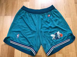 Vintage LARGE 90s CHAMPION Charlotte Hornets NBA Jersey Shorts Trikot Men's X231