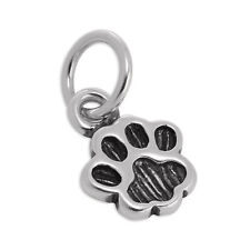925 Sterling Silver Animal Paw Charm Dog Cat Pet Animals Dogs Cats Charms