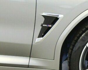 BMW OEM F98 X4 M 2020+ Chrome & Black Air Duct/Side Vent Pair Brand New