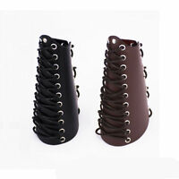 New Archery Arm Guard Bracer Handmade Lace-up Cow Leather Traditional Bow Gloves
