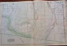 1889 CHESNUT HILL MT AIRY FAIRMONT PARK & CRICKET GND PHILADELPHIA PA ATLAS MAP