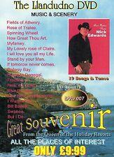 MICK EDWARDS - THE LLANDUDNO DVD - SONGS & SCENERY SOUVENIR  DVD - FREE POST UK