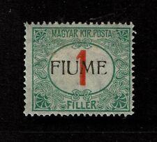 Fiume SC# J4, Mint Hinged, Hinge Remnants - S4284