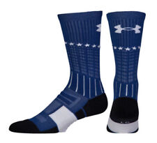Under Armour Men's Unrivaled Crew 1 Pair Basketball Socks Blue Stars MED NWT