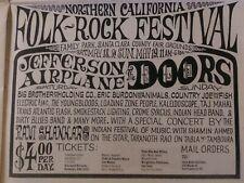The Doors Concert Ad 1968 @ Northern California Folk-Rock Festival plus more