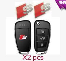X2 AUDI S LINE LLAVERO caso Aleación Metal Pegatina Insignia Emblema Calcomanía A3 S3 A4 S4