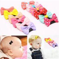 Newborn Cute Flower Hairpin Infant Mini Bow Baby Hair Clips Color Random
