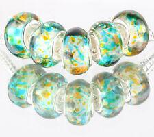5pcs SILVER MURANO LAMPWORK Beads Fit European Charm Bracelet DIY #B506