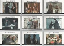 "Game of Thrones Season 6 - ""Relationships"" 10 Card Chase Set #DL31-40"