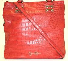NWT Handbags Jessica Simpson JS6834 DIXIE CROCO TOTE Strawberry