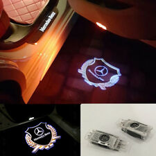 2x LED gold Logo laser Projector door light For Mercedes C-Class SLK CLK GLK