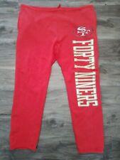 San Francisco 49ers NFL Football Champion Sweatpants Mens Size Large Red Vintage