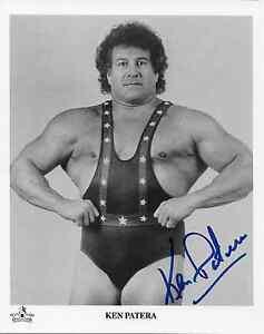 KEN PATERA AWA NWA WWE SIGNED AUTOGRAPH 8X10 PHOTO