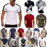 Mens Short Sleeve T-Shirts Summer Causal Sports Golf Slim Fit Tee Tops Shirts