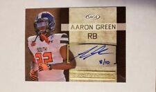 2016 SAGE Autographs Gold #SA21 Aaron Green SN 08/10