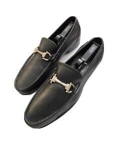 salvatore ferragamo Magnifco Mens Calfskin Loafers Black 7.5