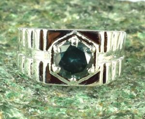 Christmas Sale Green Diamond Solitaire Men's Ring 3.07 Ct Round Cut Certified
