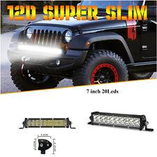 7inch 100W Dual Single Row 6D Spot Beam Off-Road LED Work Light Bar Waterproof