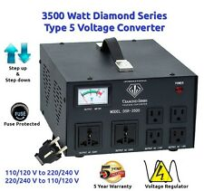 Diamond Series DSR-3500 w/ Regulator Watt Step Up/Down Voltage Converter