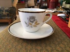 Cup And Saucer By Amcrest Fine China Luster Rose Japan