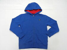 Quiksilver Boys Royal Hoodie Sweater Zip Front Jacket Long Sleeve Sz Medium 12