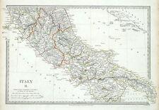 Central de Italia, Roma, Nápoles, Roma, Napoli, Sduk Original Antiguo mapa 1830