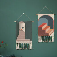 Tapisserie Quaste Handgewebte Baumwolle Wandbehänge Schlafzimmer Wohnzimmer Deko