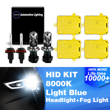 4PCS Bi-Xenon HID Headlight Kit DBK Hi-Lo Beam Fog Light H4 + 880 / 881 8000K