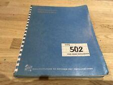 TEKTRONIX TYPE 502 DUAL BEAM OSCILLOSCOPE INSTRUCTION MANUAL