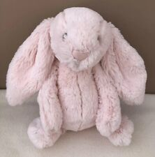 Jellycat Medium Bashful Pink Bunny Rabbit Soft Toy Comforter Baby Girl Soother